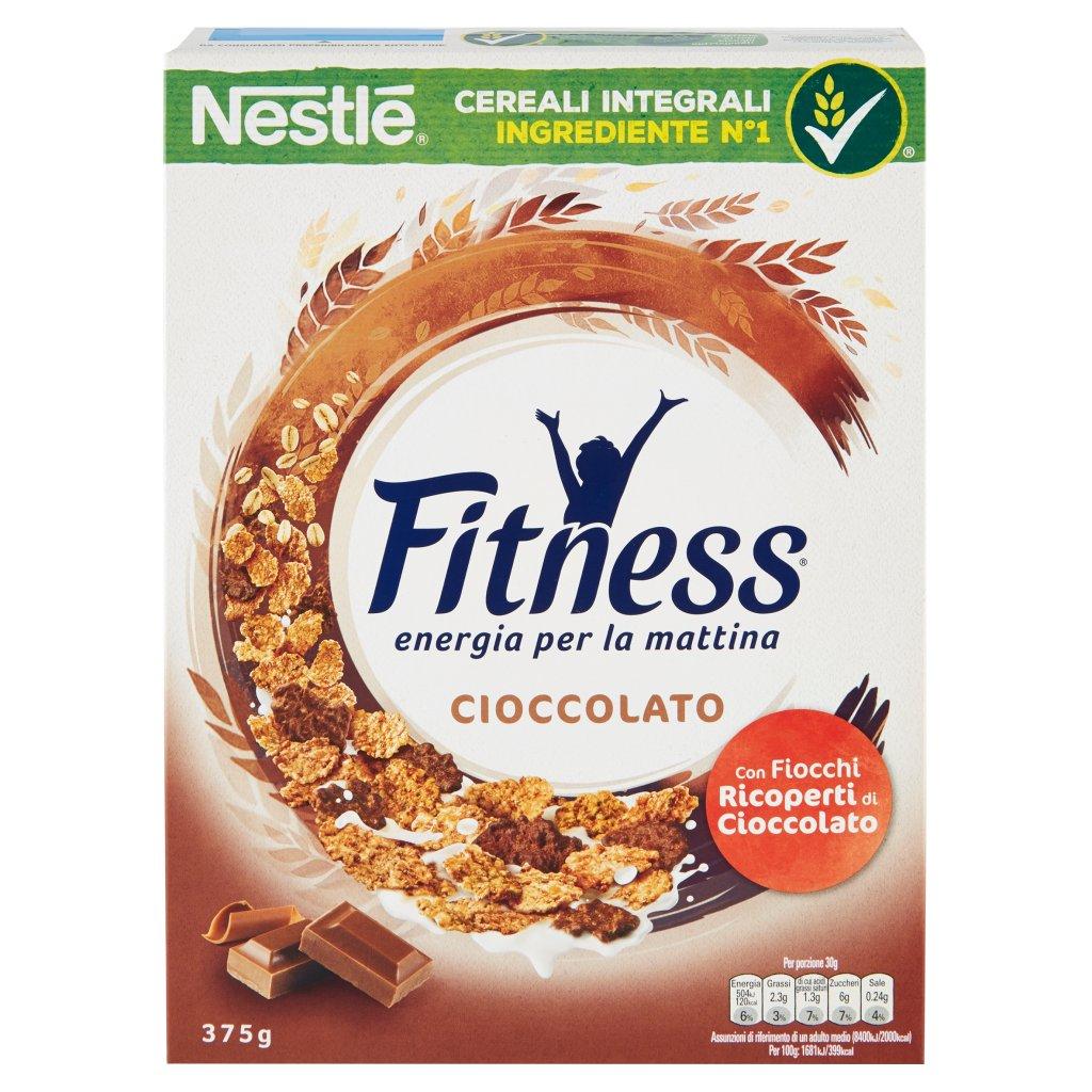 FITNESS CIOCCOLATO Cereali con frumento e avena integrali e fiocchi ricoperti di cioccolato