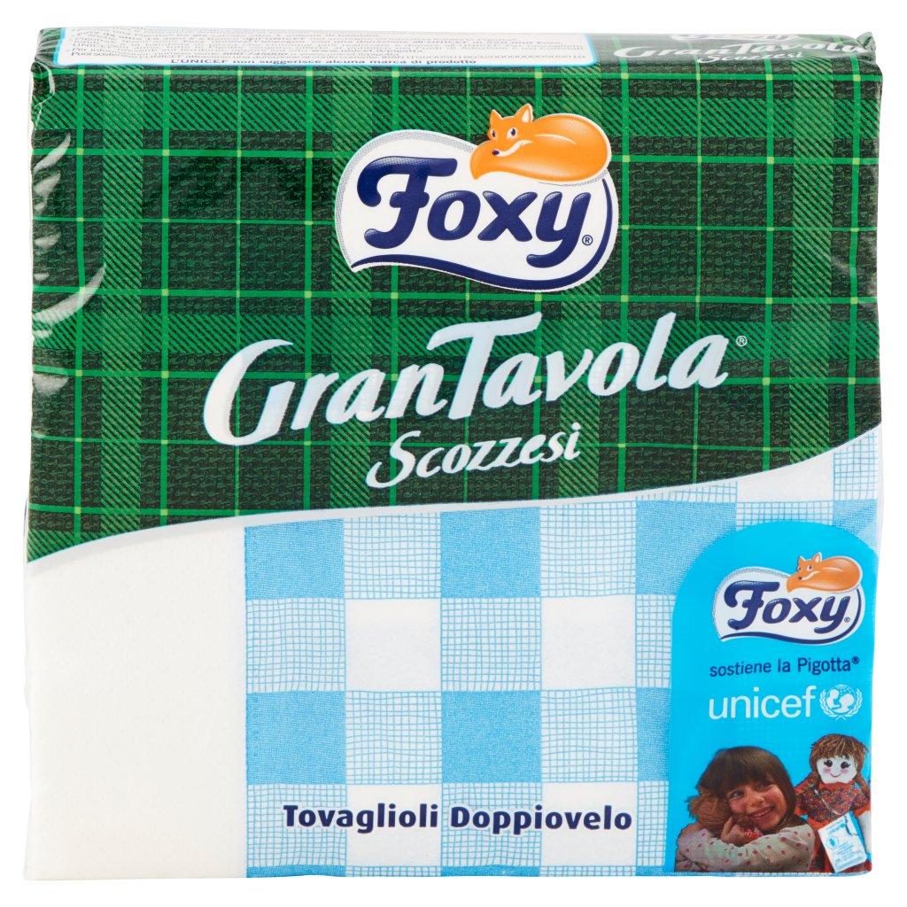 Foxy Grantavola Scozzesi 43 Tovaglioli 33x33 Decorati Doppiovelo - Colori Assortiti