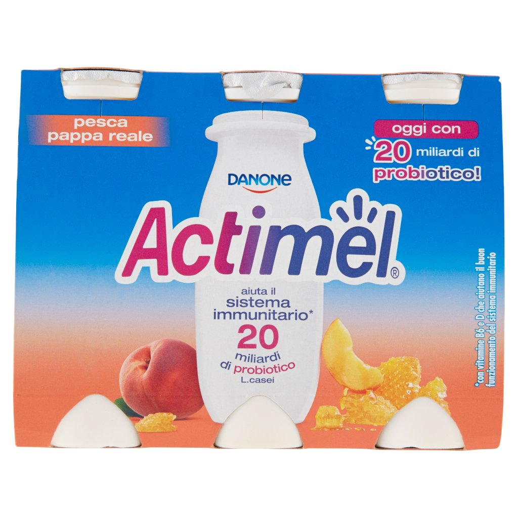 Actimel Gusto Pesca e Pappa Reale
