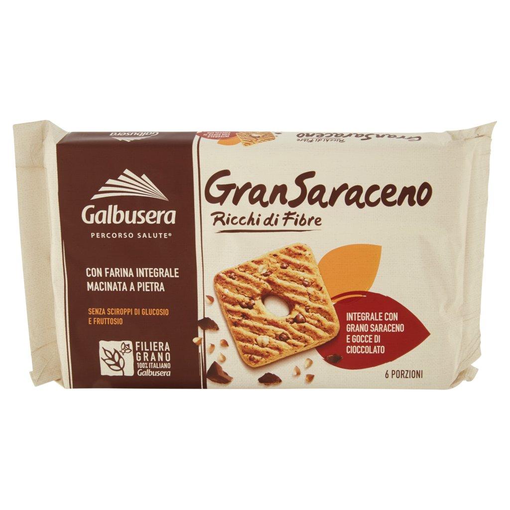 Galbusera Gransaraceno Ricchi di Fibre Integrale con Grano Saraceno e Gocce di Cioccolato